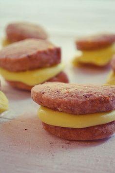 Chocolate-Lemon Whoopie Pies Recipe Lemon Whoopie Pie Recipe, Whoopie Pies, Pie Recipes, Cookies, Chocolate, Desserts, Food, Crack Crackers, Tailgate Desserts