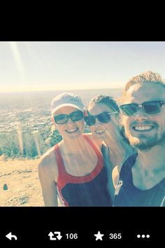 Sam just posted this on twitter about hiking with the 'Balfe girls'. (1-17-2015)