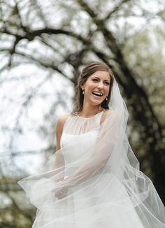 Sweet bridal portrait with long veil! View more from this classy blush and gold Knoxville wedding! Pics by Katherine Birkbeck Photography, hair and makeup by @bangsandblush | The Pink Bride® www.thepinkbride.com