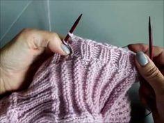 Elastisk avfelling i ribbestrikk Fingerless Gloves, Arm Warmers, Tutorials, Knitting, Youtube, Blog, Design, Fashion, Moda
