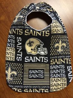 A personal favorite from my Etsy shop https://www.etsy.com/listing/247619736/new-orleans-saints-baby-bib