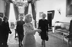 Hillary Clinton with (from left) Ralph Lauren, Anna Wintour, Katharine Graham and Diana, Princess of Wales, September 1996, by Robert McNeely