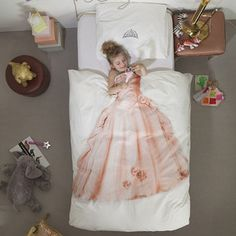 Little Circus Princess Duvet Cover & Pillow Case Bedding Set - Now Available in Twin or Full Size on shopstyle.com | Started by a Dutch husband and wife team, Snurk (meaning to snore in Dutch) creates unique bedding for children. Designed in Holland and made in Portugal, their high quality bedding is sure to delight kids of all ages.