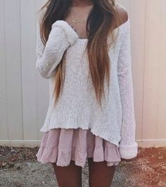 Big sweater over a sun dress... Could be VERY cute !