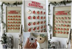 A great way to countdown to Christmas is with a beautiful DIY Glass Mounted Christmas Countdown that your family can use year after year.