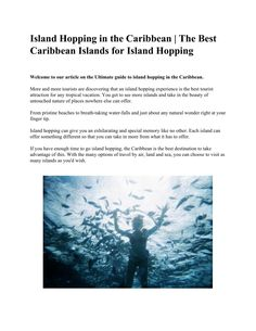 Island   Hopping   in   the   Caribbean   |   The   Best