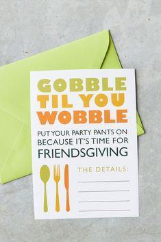 If you're hosting a celebration this year, these printable invitation cards are the perfect way to invite your guests; just print them out, fill in the details, and pop in the mail! We have invitations for any style of gathering! #friendsgiving #friendsgivinginvitations #printableinvites #bhg Fall Friends, Friends Thanksgiving, Thanksgiving Celebration, Thanksgiving Parties, Thanksgiving Crafts, Holiday Fonts, Holiday Ideas, Holiday Decor, Christmas Scavenger Hunt