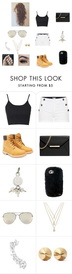 """""""dope outfit"""" by chloe-966 on Polyvore featuring Topshop, Barbour, Timberland, MICHAEL Michael Kors, Alexander Wang, Forever 21, Eddie Borgo, women's clothing, women and female"""