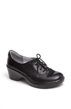 Alegria 'Etta' Oxford leather black nappa 2heel sz7/7.5 129.95