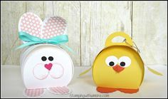 2016  VIDEO  TUTORIAL Stamping With Amore: Easter's On It's Way Bunny and Chick Treat Holder