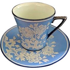 Rare Noritake Nippon Wedgewood Moriage Cup And Saucer from jools4u on Ruby Lane