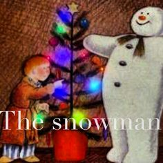 The snowman, a great book and Movie. Father Christmas, Christmas Carol, Country Christmas, Xmas, Christmas Ornaments, Snowman And The Snowdog, Raymond Briggs, Snowy Trees, Ideal Image
