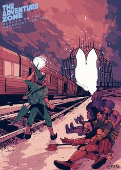 Leon Rozelaar, back in the game with this incredible illustration of the Murder on the Rockport Limited's final moments. It is so, so dope.