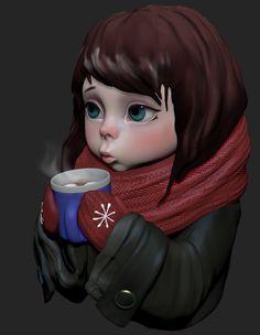 Speed sculpt Winter is coming, Olya Anufrieva on ArtStation at https://www.artstation.com/artwork/ay3A2
