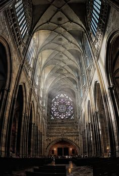 I love the Rose window in St. Vitus cathedral in the Prague castle!