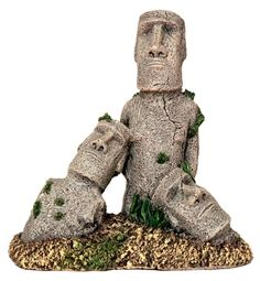 Easter Island is famous for its 887 extant monumental statues, called moai created by the early Rapanui people. Now you can have a replica piece of history among your aquatic environment Cool Fish Tank Decorations, Aquarium Decorations, Freshwater Aquarium, Aquarium Fish, Easter Island Statues, Acrylic Aquarium, Cool Fish Tanks, Aquarium Ornaments, Underwater Life