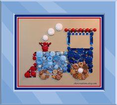 CHOO CHOO TRAIN 129 8x10 Button Art Button by CherCreations