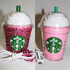 Rosa Starbucks Crystal Handy-Ladegerät von TheFawnDoe auf Etsy