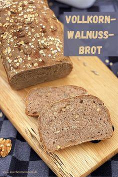 Vollkorn-Walnuss-Brot zum #wbd2020 - Küchenmomente Bread Baking, Banana Bread, Desserts, Food, Brown Bread, Whole Wheat Flour, Rolled Oats, Kuchen, Baking