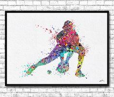 ON SALE 20% OFF Baseball Softball Catcher Sports Art by ArtsPrint