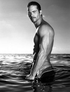 Paul Walker ( I tried 2 post the men with their clothes on but I just couldn't resist this pic. It's not sexual)