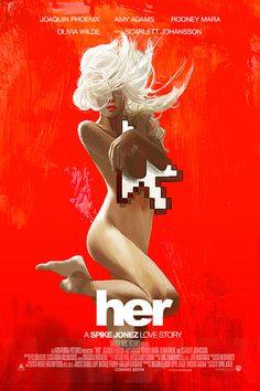 """Her"" Spike Jonez film poster by Janee Meadows"
