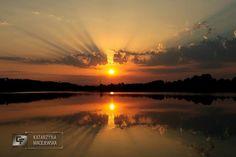 Zachód słońca nad jeziorem Orle.