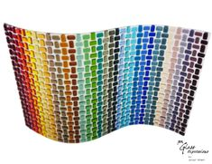 Woven look fused glass wall art