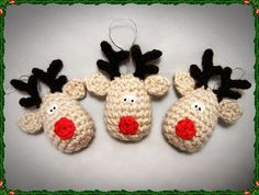 Reindeer Crochet Christmas Decoration Pattern, Reindeer Crochet Christmas Decoration Pattern |