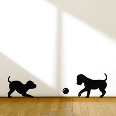 Maybe these puppy wall decals would pacify my kiddos' desire to have a pet?