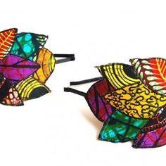 www.cewax.fr aime les bijoux ethno tendance Bijoux ethniques et style tribal. CéWax aussi fait des bijoux en tissus imprimés africains, on vous retrouve en boutique ici: http://cewax.alittlemarket.com/ - Serre-tête en feuille de wax -tissu africain-