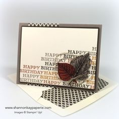 """Hello my stamping friends! I'm excited to see the number """"14"""" in the title of my blog post today…I'm almost halfway through my 30 day """"post a card a day""""challenge!! Today's card was made with a 20-something young professional in..."""