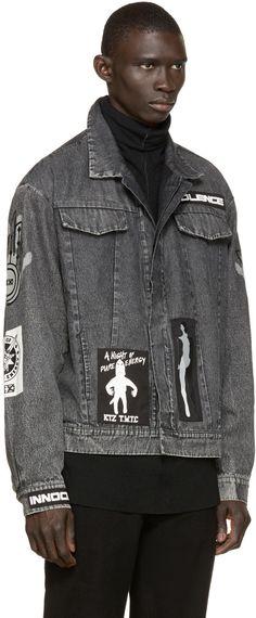 KTZ Black Denim Violent Jacket