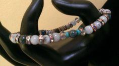 Babyblu - aquamarine, turquoise, Rhinestone & Glass beads