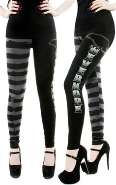 UK16 £25,99 Kreepsville 666 Nevermore Leggings