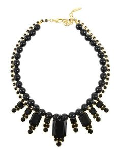 Beaded Baroque Crystal Necklace