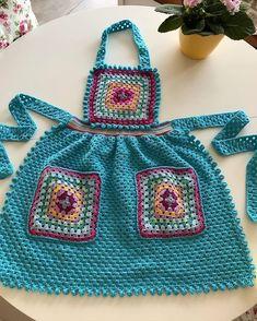 Crochet Geek, Free Crochet, Knit Crochet, Apron Pattern Free, Crochet Kitchen, Crochet Instructions, Crochet Slippers, Chrochet, Diy Fashion