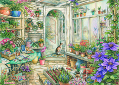 Spring Garden Room by Kim Jacobs  Pastime Puzzles