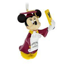 Minnie Mouse Figural Graduation Ornament
