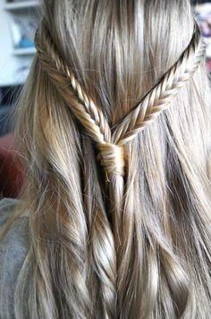 Wedding Hairstyles ~ Herringbone plaid