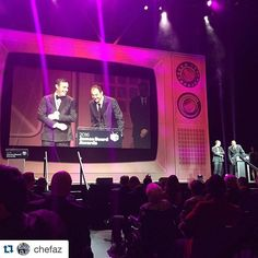Epic is when you found your work (like this stage set) in the feed of your idol (like @chefaz).  #Andrewzimmernpostedmystage #thegianttvisup #setdesign #stageset #tvdinner #setdesigner #artdepartment #scenic #designersofinstagram #food #foodawards #jbfa #jbfa2016 #productiondesign #eventprofs  #Repost @chefaz with @repostapp. ・・・ @wguidara @danielhumm win for best service at Eleven Madison Park. No contest. So happy for my friends