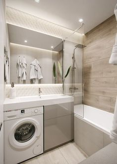 mater bathroom is definitely important for your home. Whether you choose the small bathroom storage ideas or minor bathroom remodel, you will make the best upstairs bathroom remodel for your own life. Laundry In Bathroom, Bathroom Shelves, Bathroom Organization, Bathroom Storage, Laundry Rooms, Master Bathroom, Shiplap Bathroom, Small Laundry, Bathroom Design Small