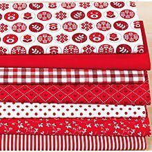 Patchwork- und Quiltpaket 'Landhaus', rot/weiß
