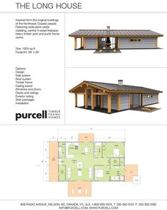 I love, LOVE, Timber Frame homes. To me, It may be the most beautiful method of home construction. http://www.purcell.com/homes_long_house.html