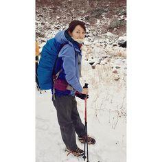 涸沢下山は雪でした! #まさかの#アイゼン装着#少し#登山グッズに#詳しくなりました。 #ふふふ#佐藤めぐみ#山女日記#最終話#涸沢