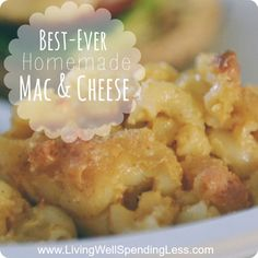 Best ever homemade mac & cheese--the ultimate comfort food! Oh my goodness, this really is the best mac & cheese I've ever had. This melt-in-your-mouth version uses freshly grated sharp cheddar and gouda for a flavor that is so good. Definitely a winner! Best Mac And Cheese, Mac And Cheese Homemade, Home Made Mac And Cheese Recipe, Best Baked Mac And Cheese Recipe, I Love Food, Good Food, Yummy Food, Pasta Dishes, Food Dishes