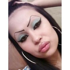 This woman, who is so over your brow cynicism. | 43 People Whose Eyebrows Are So Bad They're Actually Works Of Art. LMFAO! Hahahaha! I bet my ex's stupid girlfriend looks like this!