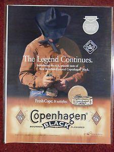 Copenhagen Chewing Tobacco | 2001 Print Ad Copenhagen Black Snuff Smokeless Chewing Tobacco Legend ...