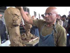 Alexander Cherkov demonstrates male head sculpture of clay Earthenware Clay, Ceramic Clay, Sculpting Tutorials, Drawing Tutorials, Drawing Tips, Lips Illustration, Facial Proportions, Sri Lanka, Ceramic Techniques