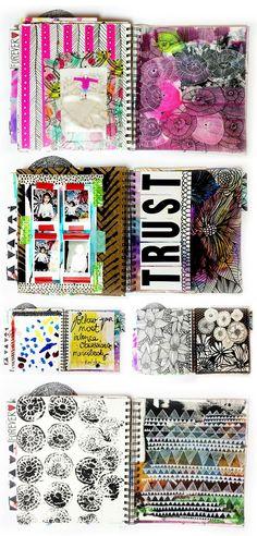 alisaburke: a peek inside my art journal